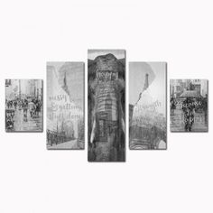 SHARE & Get it FREE | HX-ART No Frames Painted Canvas Grey elephant Street decorationsFor Fashion Lovers only:80,000+ Items·FREE SHIPPING Join Dresslily: Get YOUR $50 NOW!