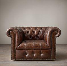 Flexsteel Leather Swivel Barrel Chair | Store Images ...