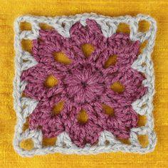 Libre Crochet Patrón: Flores en la plaza afgano Ventana | Qué alegre