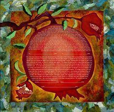italian ketubah pomegranate - Buscar con Google