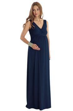 57d39ef0e5e Ava Wrap Sleeveless Maxi Maternity   Nursing Dress (Myrtle Green)