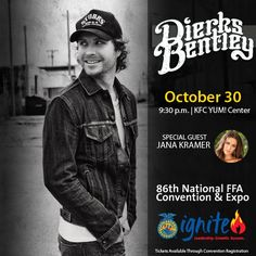 The 2013 FFA Convention concert features Dierks Bentley and Jana Kramer!