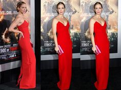 Emily Blunt is really a stunner in Parada gown at her movie premiere