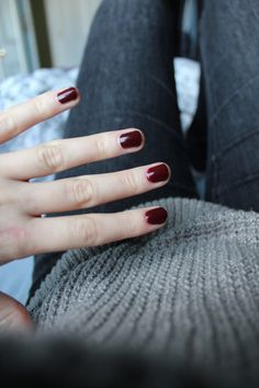 deep red nails #manicure #fall