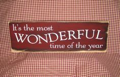 Christmas sign It's the most wonderful time by HeritagePrimitives, $17.95