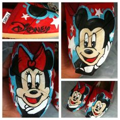 Minny and Mickey Mouse