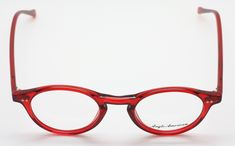 8c14d3c85053 eyehuggers - Stunning Red Anglo American 406 OP9 Panto Shaped Acrylic Glasses  Frames