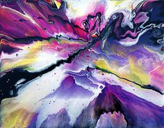 Purple and Pink Spin Painting by Mark Chadwick art, via Flickr
