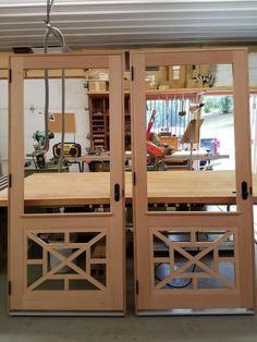 Spanish Cedar Screen Doors - Woodworking creation by Vintage Screen Doors, Wood Screen Door, Wood Doors, Screened Porch Doors, Front Porch, Cedar Door, Welcome Signs Front Door, Cape Cod Style House, Barn Door Designs