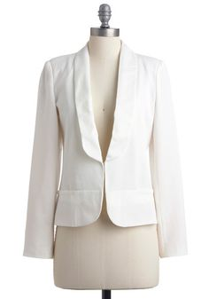 Whiter Shade of Vail Blazer | Mod Retro Vintage Jackets | ModCloth.com
