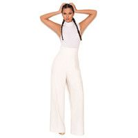 'Samay' Off White Wide Leg Jumpsuit - SALE