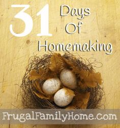 31 Days of Homemaking