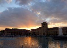 Sunrise over Republic Square, Yerevan