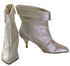 Vintage 60s Silver Lamé Boots, I am sure my mom had a pair of these :)