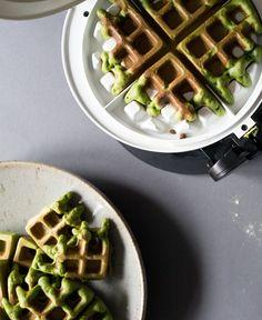 Matcha (Green Tea) Waffles
