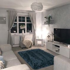 A small splash of colour really livens this room up whilst keeping it understated and classy. Living Room Decor Cozy, Living Room Grey, Home Living Room, Living Room Designs, Bedroom Decor, Inspire Me Home Decor, Decoration Gris, Salons Cosy, Living Room Inspiration