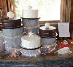 beach theme wedding cake stand made a dock for the cupcake stand nautical wedding 11166