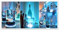 fish bowl centerpiece, how do I get a hold of one of those lights that sits under a vase?!?  So cool!!! -AB