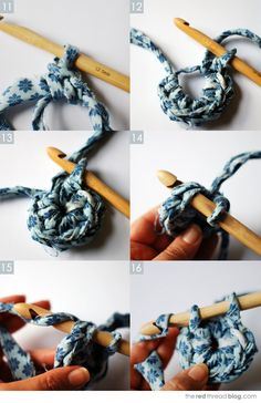the red thread :: create, inspire, share | TUTORIAL :: Beginner's crochet | make a fabric basket | http://www.theredthreadblog.com