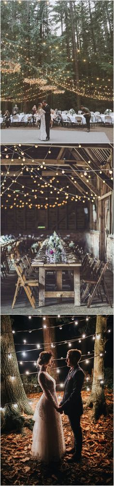 boho wedding decoration ideas with string lights #wedding #weddingideas #bohowedding