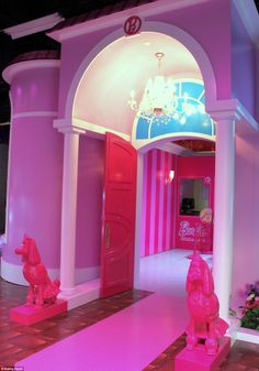 "Real Life Barbie Dream House!  Located in Florida~  If you were a barbie fan like me growing up, click the picture and see the pix and video! So neat!!    ""The Dream House was built in less than a year, using more than 20 pounds of glitter and 100 gallons of pink paint"""