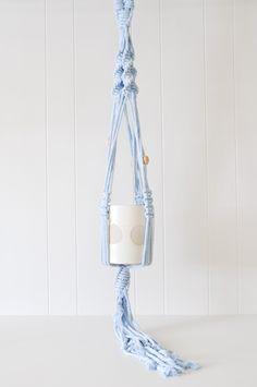 Macrame Plant Hanger - Blue