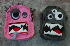 Custom Monster Backpack (large and small). $65.00, via Etsy.