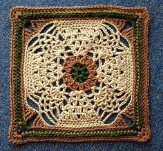 """Ravelry: Project Gallery for Pineapple Expression 9""""/12"""" Afghan Block Square pattern by Margaret MacInnis"""