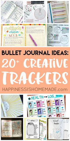 Looking for bullet journal ideas? These creative bullet journal tracker charts will help you get organized, save money, lose weight, and boost your mood!