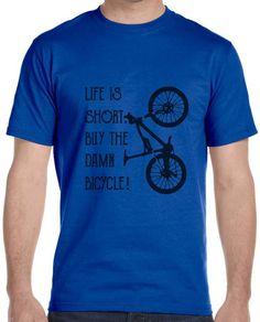 Cycling Mountain Bike T- Shirt Tee Custom Fit FREE SHIPPING SIZE S M L XL #Gildan #PersonalizedTee