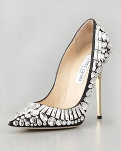 Jimmy Choo Tia Pointy-Toe Jewel Pump