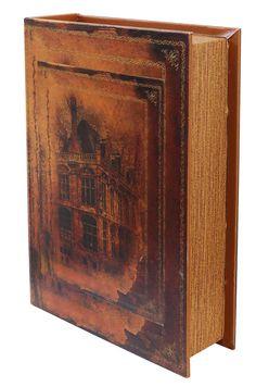 Buchattrappe Etui Box Schmucketui Buch Schiff Segelschiff antik Stil book box XL