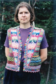 Andean Vest by Lucy Neatby.  I believe this is sewn together in pieces.