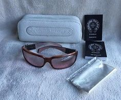 CHROME HEARTS FIX III HIGH-END SUNGLASSES amber brown mirrored Authentic NEW