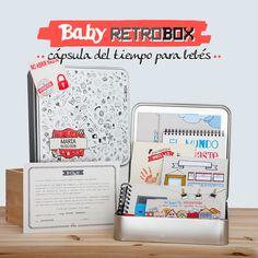 Baby My Retrobox es una capsula del tiempo personalizada que hoy se regala a un bebé, pero que él no descubrirá hasta dentro de mucho tiempo. Es una caja de recuerdos, que contiene información y curiosidad sobre cómo es el mundo al que ha llegado el bebé, y anécdotas e imágenes de sus primeros meses de vida. ¡El regalo más original y emotivo para un bebé! ;) #capsula #tiempo #MyRetrobox #regalo #bebe #recuerdos