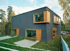 An interesting example of contemporary Scandinavian architecture, Nora House (also dubbed Double House), designed by Tham & Videgard Hansson Architecture Résidentielle, Scandinavian Architecture, Modern Scandinavian Interior, Beautiful House Plans, Modern House Plans, Beautiful Homes, Double House, Design Exterior, Unique House Design