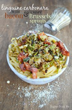Looking for Fast & Easy Main Dish Recipes, Pasta Recipes, Pork Recipes! Recipechart has over free recipes for you to browse. Find more recipes like Linguine Carbonara with Bacon and Crispy Brussels Sprouts. Best Pasta Dishes, Food Dishes, Main Dishes, Side Dishes, Pork Recipes, Pasta Recipes, Cooking Recipes, Cheese Recipes, Linguine Carbonara