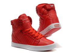 Supra Skytop For Men Shoes Red Leather Body [Supra800246] - $73.50 ...