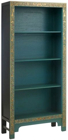 Baumhaus The Nine Schools Oriental Chinese Decorated Blue Bookcase - CFS Furniture UK Shabby Chic Bedroom Chair, Shabby Chic Bedroom Furniture, Furniture Styles, Cool Furniture, Decoupage Furniture, Shabby Chic Boutique, Dressing Table With Chair, Provincial Furniture, White Painted Furniture