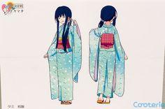 Hanayamata: Tami Nishimikado Character Model Sheets