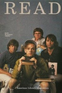 """Celebrity """"READ"""" Posters Of The 80s and 90s - BOOK RIOT ~REM"""