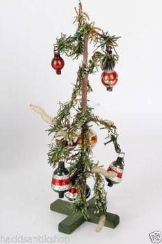 Original Weihnachtsbaum Christbaum mit Christbaumkugeln um 1900 #2 in Antiquitäten & Kunst, Antikspielzeug, Puppen & Zubehör, Puppenstubenzubehör, Original, gefertigt vor 1970, Accessoires   eBay