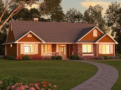 ePlans Ranch House Plan – Traditional Ranch – 1511 Square Feet and 3 Bedrooms from ePlans – House Plan Code Style At Home, Country Style House Plans, Ranch House Plans, Dream House Plans, Small House Plans, Ranch Exterior, Dream House Exterior, The Sims 2, Ranch Style Homes
