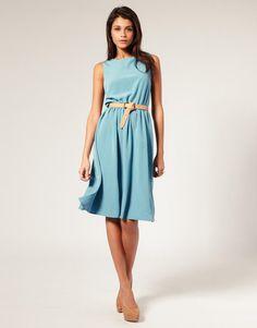 ASOS | ASOS Midi Dress with Soft Skirt at ASOS