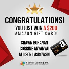 Congratulation to our winners. Thank you all for your business and patronage!    Please check your email for instructions on how to redeem your prize.