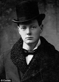 ca. 1900, Boston, Massachusetts, USA --- Young Winston Churchill