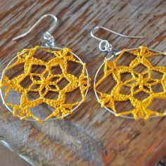 *MUST* learn more crochet jewellery #crochet #yellow