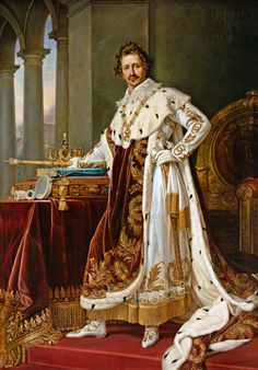 Bild: Joseph Karl Stieler - König Ludwig I. von Bayern im Krönungsornat.