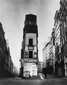 by Brassaï André Chénier's house, on the corner of Rue de Cléry and Rue Beauregard, Paris 2e, c. 1939. From Brassaï. Paris.