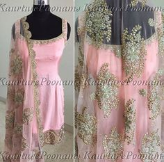 Light pink suit with net dupatta Indian Fashion Trends, Punjabi Fashion, Indian Bridal Fashion, Indian Designer Outfits, Bollywood Fashion, Asian Fashion, Punjabi Dress, Pakistani Dresses, Indian Dresses